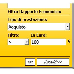 SMS con il Filtro per rapporto economico